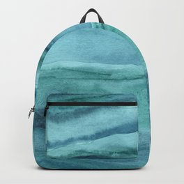 Watercolor Agate - Teal Blue Backpack