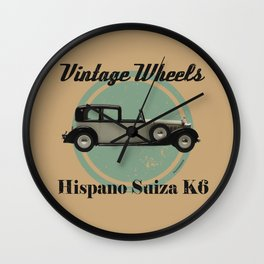 Vintage Wheels - Hispano Suiza K6 Wall Clock