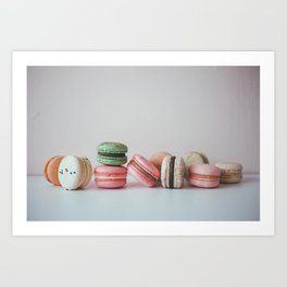 Vintage Macarons Art Print