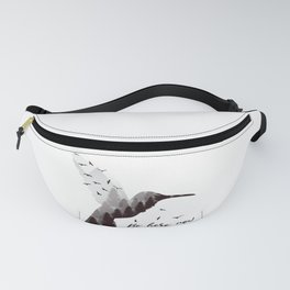 In The Now - Adventure Bird Black White Typography Fanny Pack