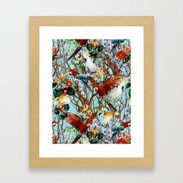 Floral and Birds XXX Framed Art Print
