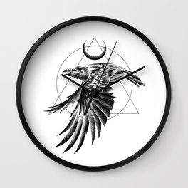 THE RAVEN AND THE MOON Wall Clock