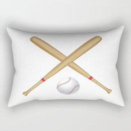 Baseball Bat and Ball Rectangular Pillow