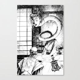 Long neck yokai Canvas Print