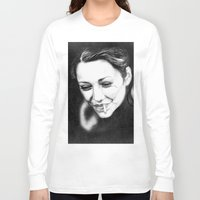 cigarette Long Sleeve T-shirts featuring Marion's Cigarette by Elena Lev