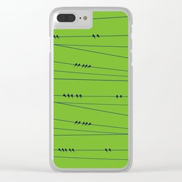 Many Birds on a Wire Clear iPhone Case