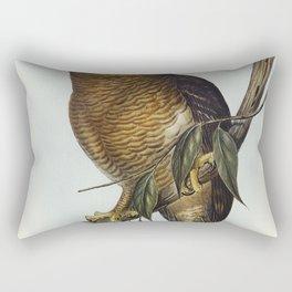 Rufous Owl (Athene rufa) illustrated by Elizabeth Gould (1804-1841) for John Goulds (1804-1881) Bird Rectangular Pillow