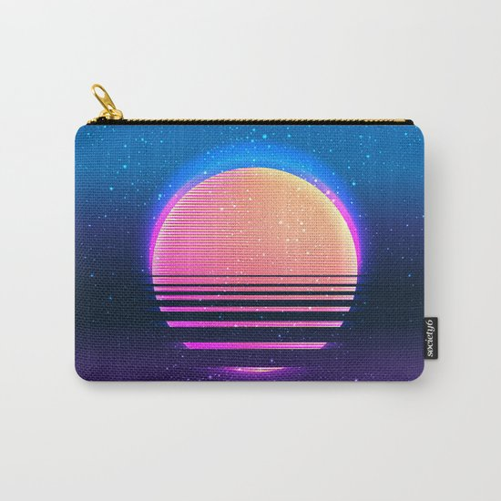 Retro vintage 80s or 90s geometric style abstract art Carry-All Pouch