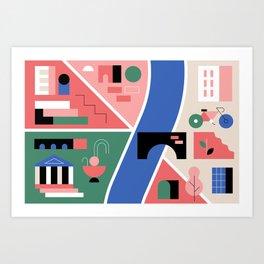 City Map Fragment V Art Print