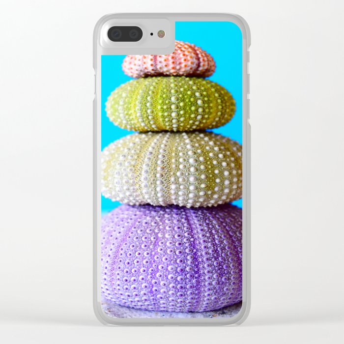 Oursin color coquillage Clear iPhone Case