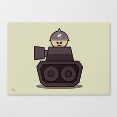 Grumpy Little Soldiers Tank Military Art, Military Wall Art Canvas Print