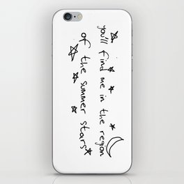 you'll find me in the region of the summer stars (harry) iPhone Skin