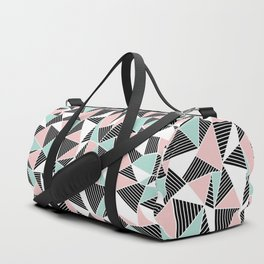 AbLines with Blush Mint Blocks Duffle Bag