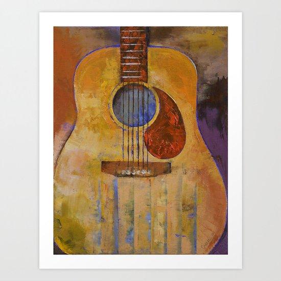 Acoustic Guitar Art Print
