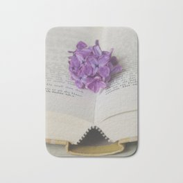 Lilac Bookmark II Bath Mat