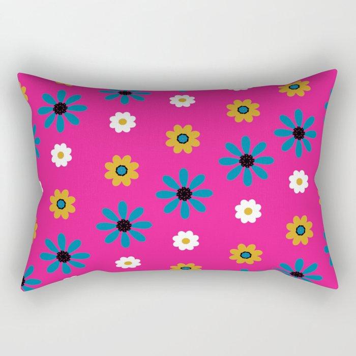 flowers in pink Rectangular Pillow
