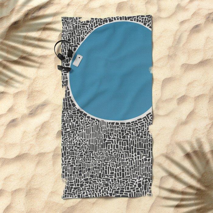 Abstract Blue Lake Beach Towel