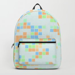 Colored Pool Squares Backpack