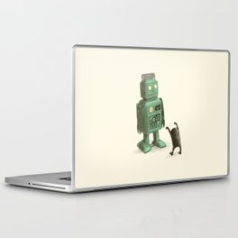 Robot vs Alien Laptop & iPad Skin
