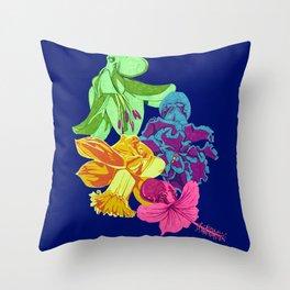 Octopus Flower Garden Throw Pillow