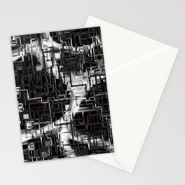 black & white installation Stationery Cards