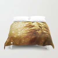champagne Duvet Covers featuring Champagne by Rosemary Danielis