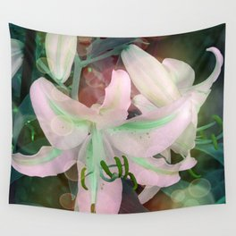 Auras Dancing with the Lilies  Wall Tapestry