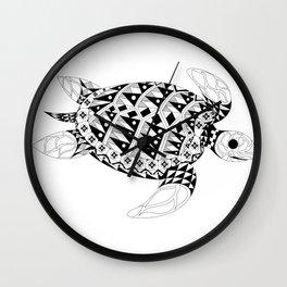 Black Turtle ecopop Wall Clock