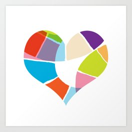Heart Coloria Art Print