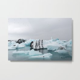 Glacier Lagoon in Iceland Metal Print