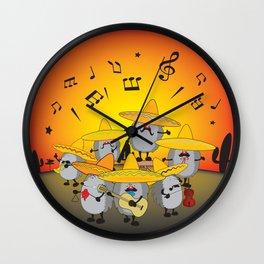mariachi hedgehogs Wall Clock