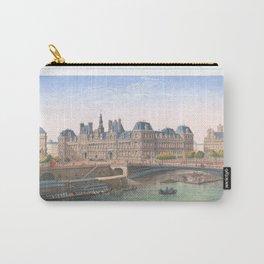 Paris art print Paris Decor office decoration vintage decor HOTEL DE VILLE of Paris Carry-All Pouch