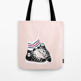 sneakers with socks Tote Bag