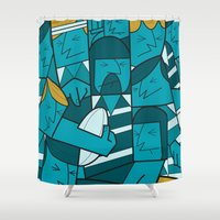 rugby Shower Curtains featuring Rugby 1 by Ale Giorgini