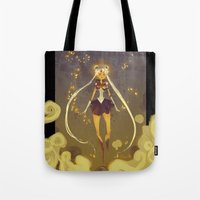 sailormoon Tote Bags featuring SailorMoon by samanthadoodles