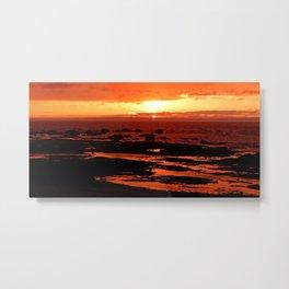 Sunset behind the Circle of Rocks Metal Print
