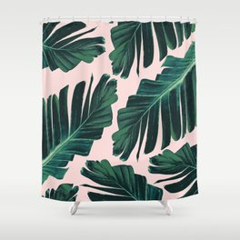 Tropical Blush Banana Leaves Dream #1 #decor #art #society6 Shower Curtain