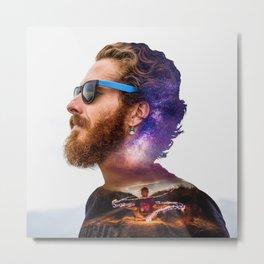 Poi Under The Milky Way Metal Print