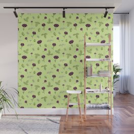Birdy Roses pattern 3 Wall Mural