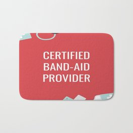 Certified Band-Aid Provider Bath Mat