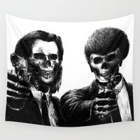 pulp Wall Tapestries featuring Pulp Fiction by Motohiro NEZU