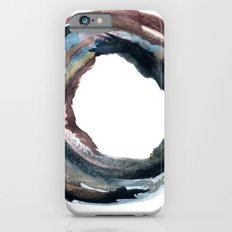 W8 - a circular watercolor piece in muted tones Slim Case iPhone 6s