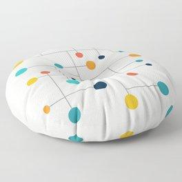 Mid Century Retro Pop Art 015 Floor Pillow