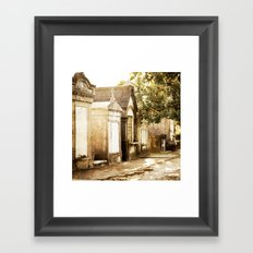 Aboveground cities of the dead Framed Art Print