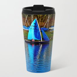 Little Blue Sailboat  Travel Mug