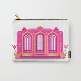 Pink Palace ~ Metallic Rose Gold Foil Accents Carry-All Pouch