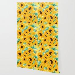 watercolor sunflower pattern 2019 Wallpaper