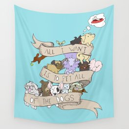 All the Dogs in Color Wall Tapestry