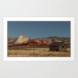 Historic Cabin An Outpost in UTAH--John D Barrett Photography Art Print