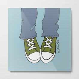 """Army Green """"Kicks"""" Metal Print"""